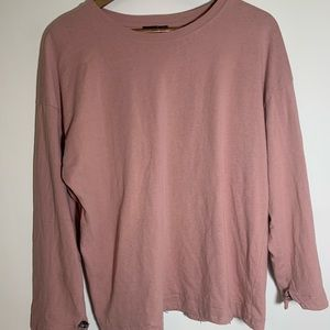 Top shop pink woman's 3/4 sleeve